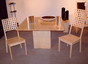 meubeldesign, tafel en stoelen